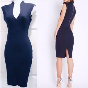 Dresses & Skirts - Navy Midi Bodycon Dress